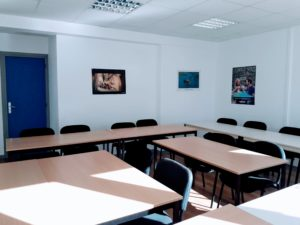 French course classroom in France