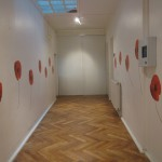 hallway decorated with flowers at inflexyon