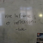writing in french on a whiteboard