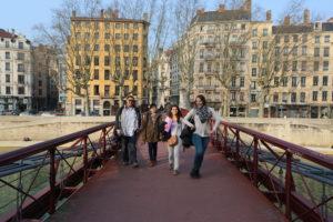 Les étudiants en visite de Lyon